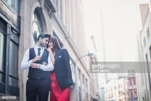 elegant couple - formalwear stock photos and pictures