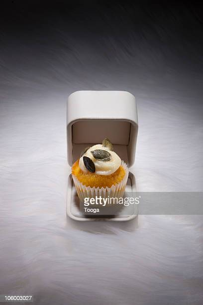 Elegant cupcake in jewelry box