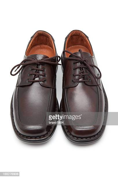 Elegant dark brown men's shoes