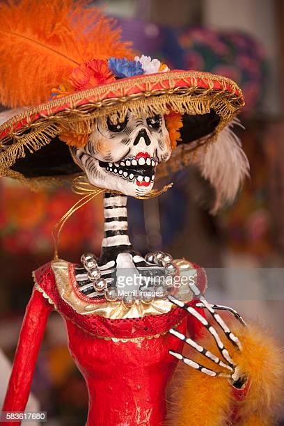 Elegant Day of the Dead skeleton, Oaxaca, Mexico