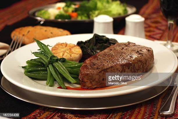Elegant delicious steak