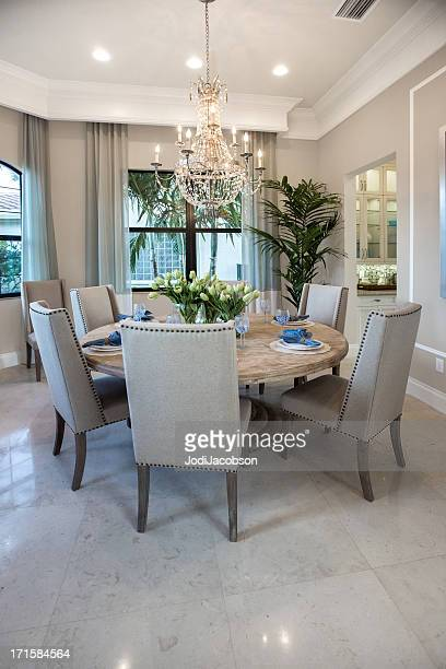 elegant diningroom house interior - dining room stock pictures, royalty-free photos & images