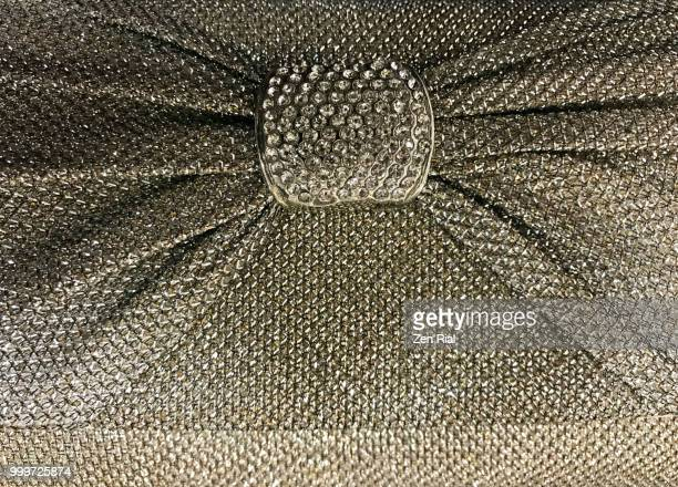 elegant evening bag with clusters of rhinestones in the center - rhinestone stock pictures, royalty-free photos & images
