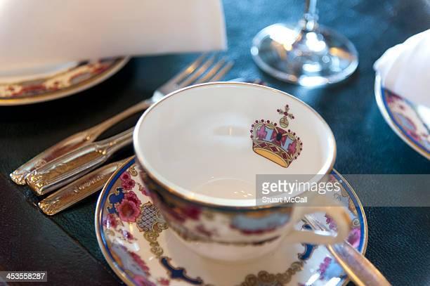 Elegant, fine china tea service