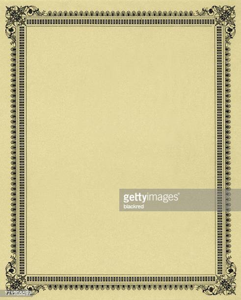 elegant frame - diploma stock pictures, royalty-free photos & images