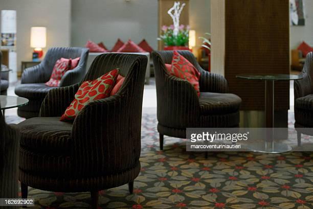 Elegant hotel lounge