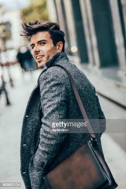 elegant man in the city - a fall from grace stock pictures, royalty-free photos & images