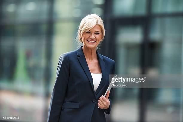 Elegant mature businesswoman