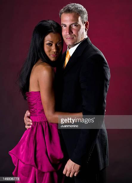 Elegant mixed race couple
