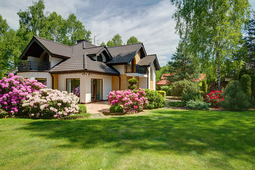 Elegant new villa with backyard 519434778