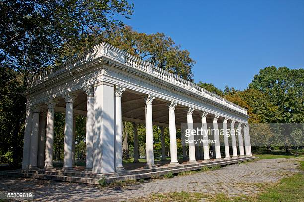 Elegant open structure with columns and balustrade