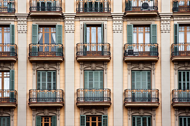 Elegant Palace Facade, 19th Century Architecture in Barcelona