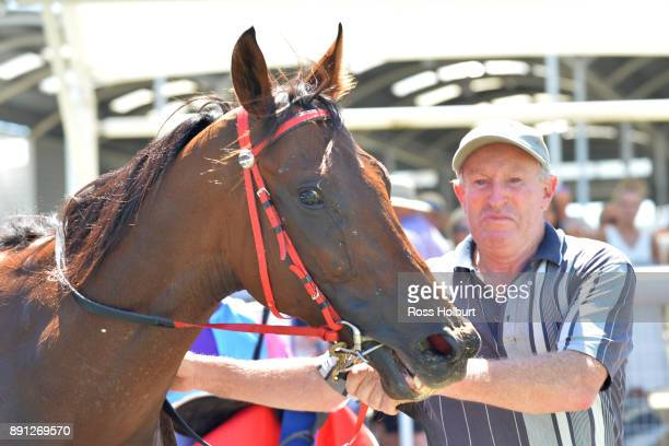 Elegant Queen after winning the Ron Hutchinson Turns 90 Hcp at Mornington Racecourse on December 13 2017 in Mornington Australia