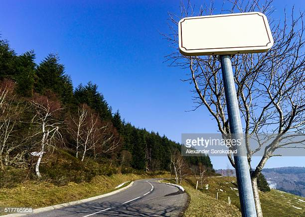 Elegant road sign plate in countryside of France. Easy to print nessesary text.