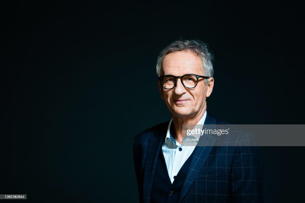 Elegant senior man : Stock Photo