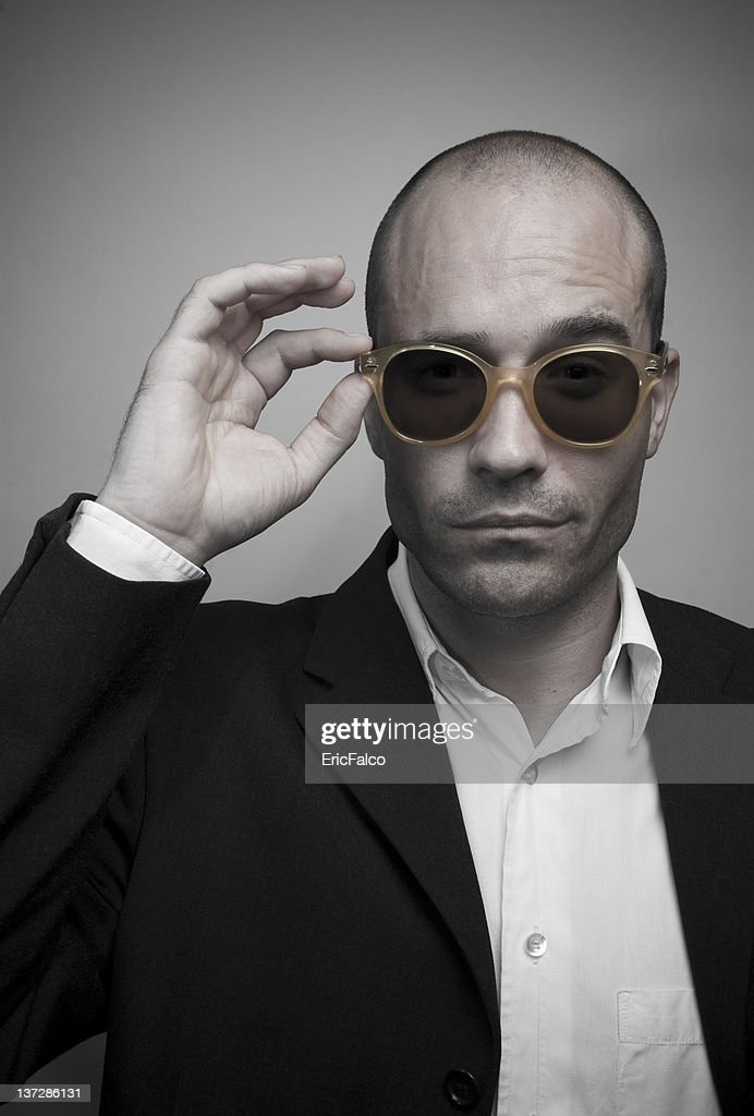 Elegant Bald Man : Stock Photo