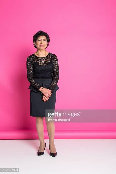 elegant south american woman standing