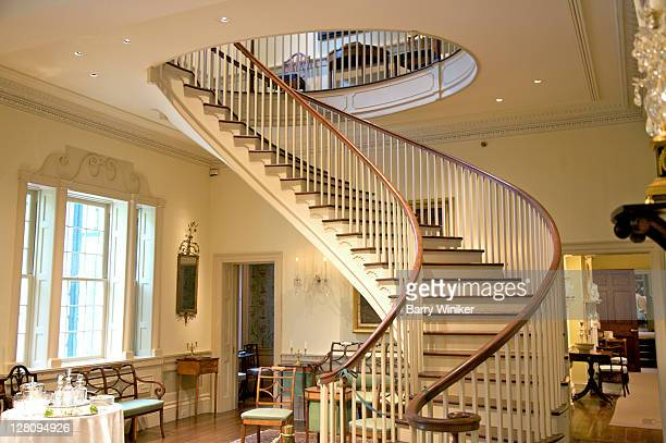 Elegant spiral staircase, former country house of Henry Francis du Pont, Winterthur, Delaware
