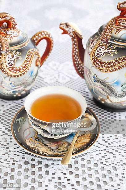 elegant tea set - high society stock pictures, royalty-free photos & images