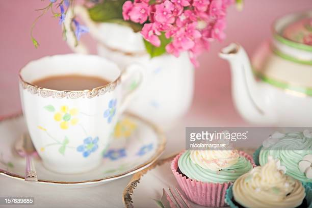 elegant teatime - tea party stock pictures, royalty-free photos & images