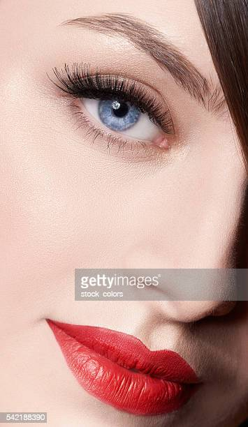 elegant touch on my skin - false eyelash stock pictures, royalty-free photos & images