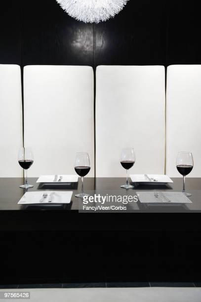 Elegant upholstered dining booth