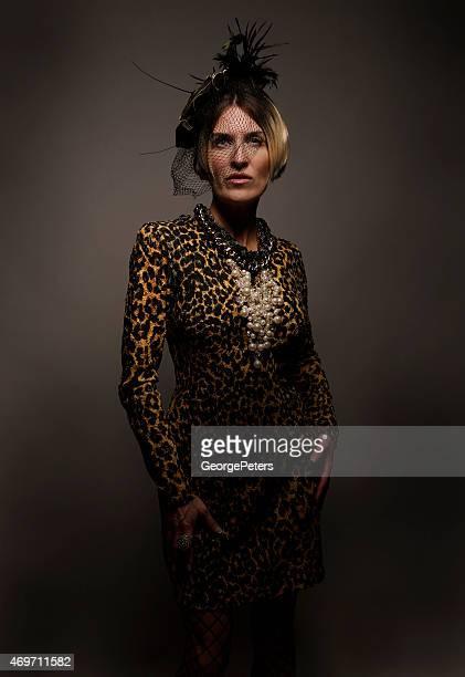 エレガントヴィンテージの女性 - 女優 ストックフォトと画像