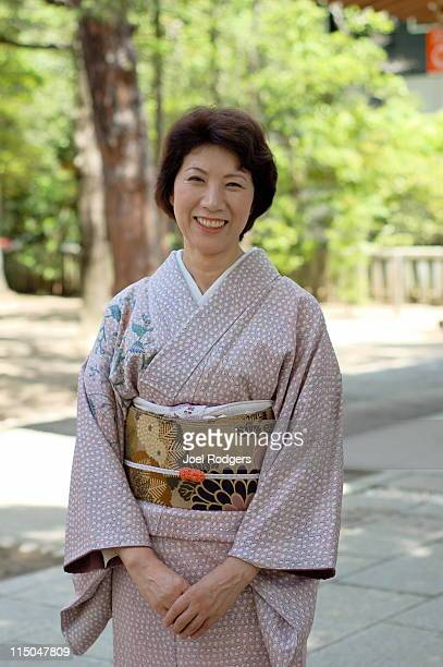 Elegant woman in formal kimono