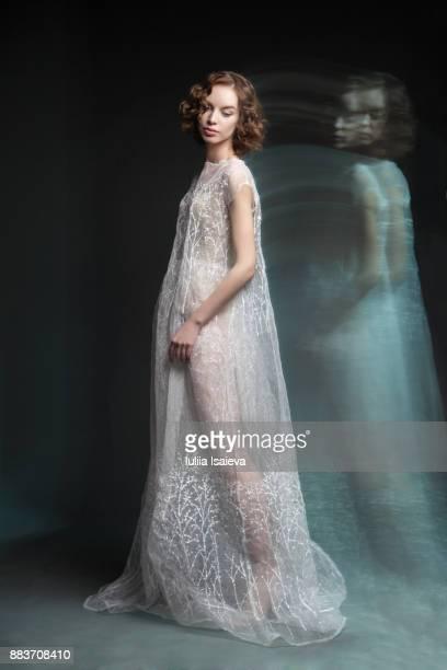 Elegant woman in motion