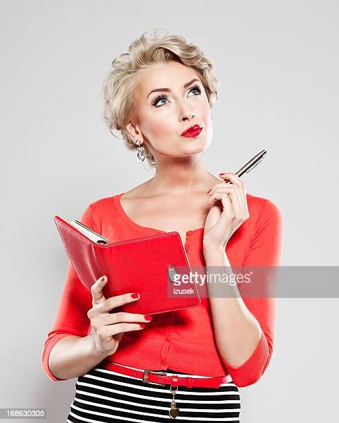 Elegant woman with calendar