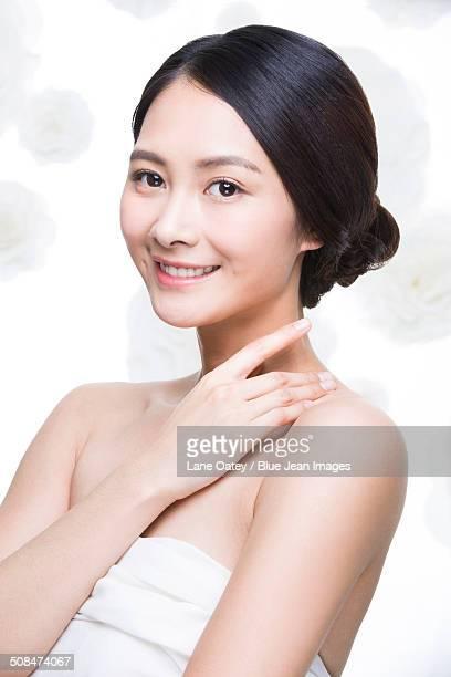 Elegant young woman