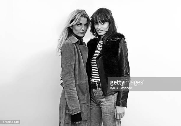 Elektra Kilbey and Miranda Kilbey of the band Say Lou Lou visit the SiriusXM Studios on April 24, 2015 in New York City.