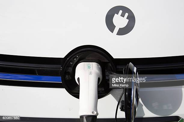 Elektrobay electric car charging point for a Zipcar hire car in London England United Kingdom An electric car is an automobile that is propelled by...