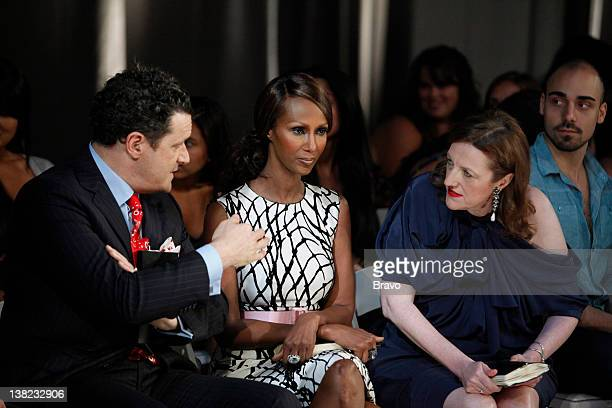 "Elemental Fashion"" Episode 209 -- Pictured: Judges Isaac Mizrahi, Iman, Glenda Bailey"