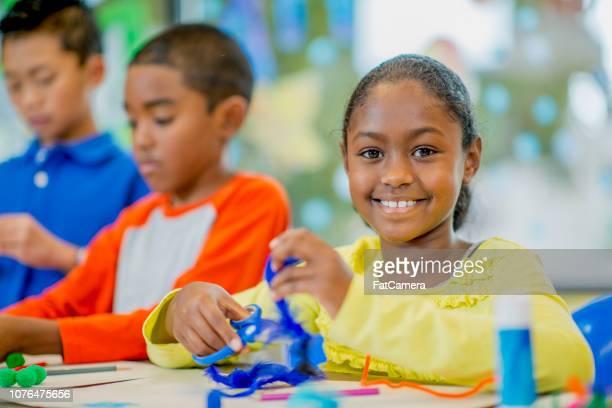 小学校の美術の授業 - art and craft ストックフォトと画像