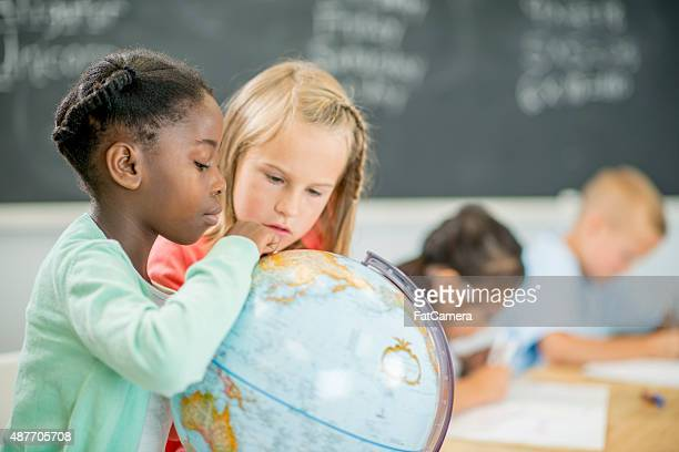 Elementary Girls in Geography