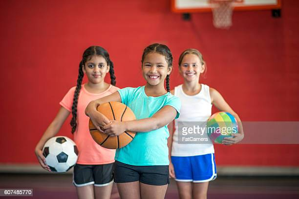 Elementary Girls Playing Sports