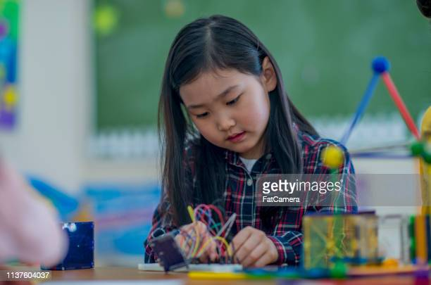 Elementary school children playing