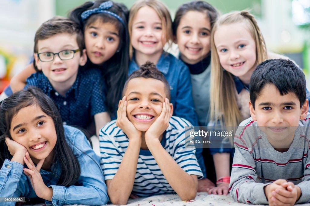Elementary School Classroom : Stock Photo