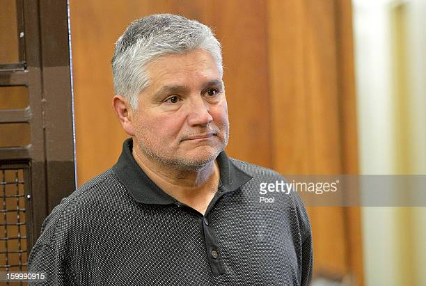 LAUSD elementary school teacher Robert Pimentel appears at his arraignment on sex abuse charges with Judge James Otto at LA County Superior Court...