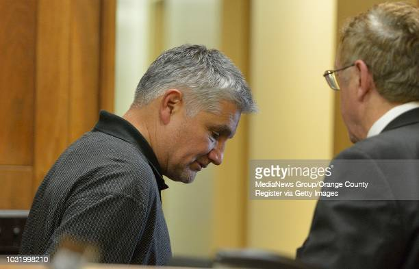 BEACH CALIF USA LAUSD elementary school teacher Robert Pimentel left with his attorney Richard Knickerbocker during an arraignment for sex abuse...