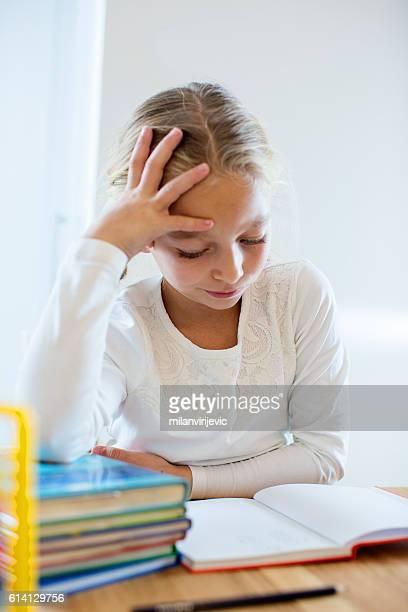 Elementary student doing homework