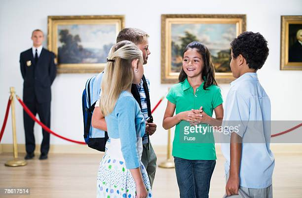 Elementary Students at Art Gallery