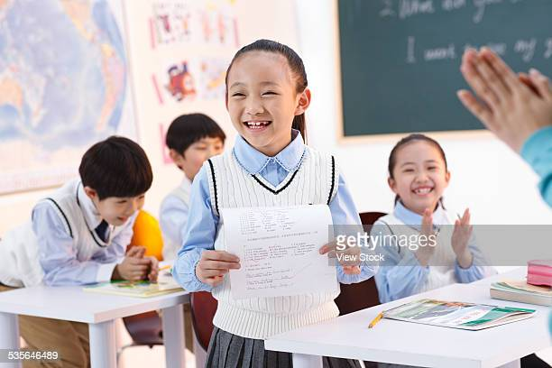 Elementary students in class