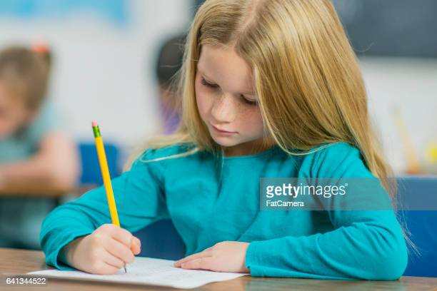 Elementary Students Taking a Test