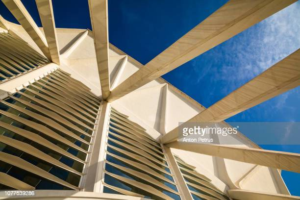 Elements of futuristic architecture in City of Arts and Sciences, Valencia, Spain