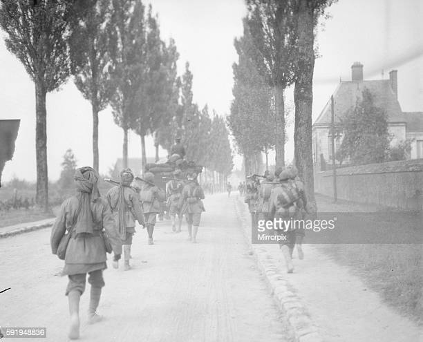 Elements of the 3rd Lahore Indian Division seen here moving up to the front Circa October 1914