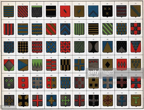 Elements of the art of French heraldry Undated color slide