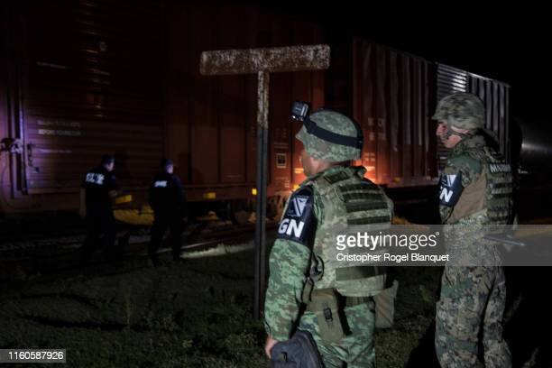 July 7 : Elements of the Federal Police and the National Guard are part of the operation installed in the community of San Ramón, aldaldía de Arriaga...