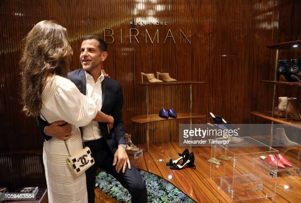 Elen Capri and Alexandre Birman are seen at the Alexandre Birman Bal Harbor Store Opening Event on November 8 2018 in Miami Florida